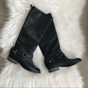 COACH Ridding Leather Boots
